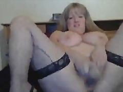 chubby, shaved, stockings, high, blonde, solo, doggystyle, hardcore, pussy-eating, heels, bed, webcam, trixie cas