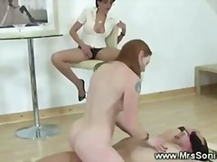 Tube8 Movie:Lucky slave gets fucked by one...