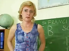 Milf teacher nasty fingering after ha...