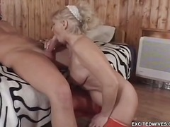 granny, blonde, big-tits, blowjob