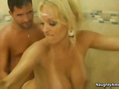milf, big-tits, blonde, old, handjob, mom,