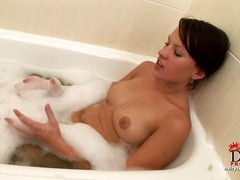 masturbation, brunettes, bath, toys,