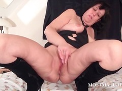 mature, brunette, toys, milf, older