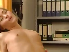 Blonde office lady get... video