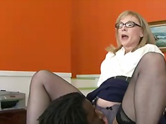 Nina Hartley is a four-eyed mature
