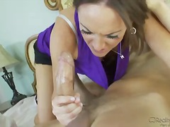 blowjob, deepthroat, heels, mom