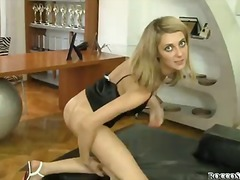 Blonde Natasha D with tight bare