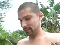 face, pussy, tits, outdoors, fake