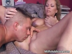 Nuvid - This horny and hot blonde MILF