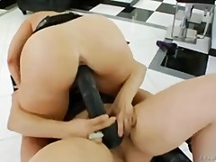 lesbian, anal, toys, toy, brunettes,