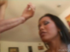 Yobt TV Movie:Hawt breasty Asian takes in a ...
