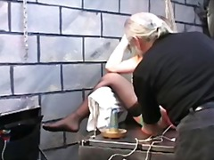 Chubby Jennifer punished