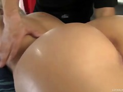 ebony, milf, booty, ass, massage,
