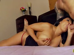 Raven haired sexy Kiara Mia with