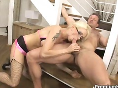stacy silver,  blowjob, glasses