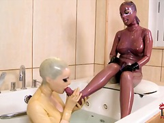 black angelika,  domination, latex
