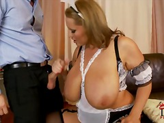 Busty cleaning lady Laura M in