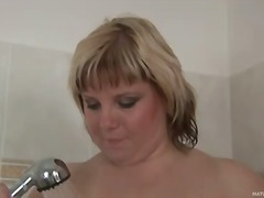 blonde, handjob, milf, natural,