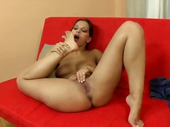 eve angel,  mature, solo, brunette,
