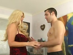 Well endowed blonde cougar Karen Fisher