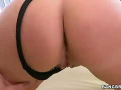 Blonde milf Melanie Monroe in black