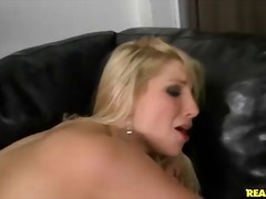 Beautiful blonde Ashley Fires pulls down