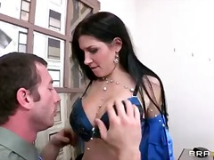 rebeca linares,  office, stockings,