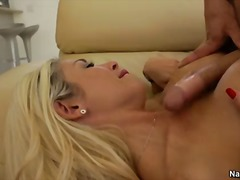 His bestfriends blonde-haired busty mom Evita