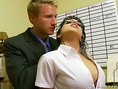 office, tits, monster, glasses, school, natural, hardcore, mature, secretary, pornstar