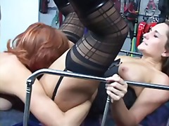 latex, threesome, bbw, milf, big-boobs, redhead, brunette, bdsm, mature, big-tits, toys