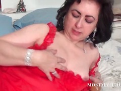 masturbation, older, granny, nylons