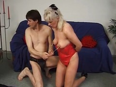 Incredible BDSM lesson for blonde MIL...