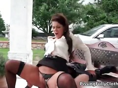 Horny brunette woman goes crazy ridin...