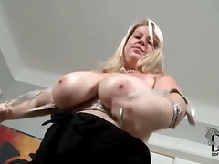 big-tits, blonde, tease, busty,