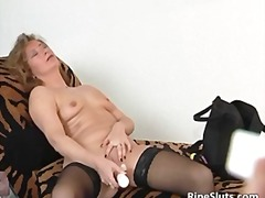 stockings, objects, hardcore, dildo