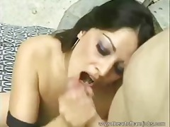 Lovely Babe Outdoor Handjob