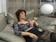 mature, older, solo, granny, amateur, masturbation, stockings, wife