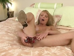 milf, blonde, long-hair, toys, t.y.
