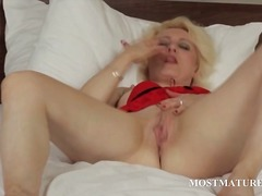 milf, masturbation, blonde, mature,