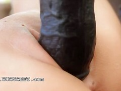 Small nipples petite body and brutal toy