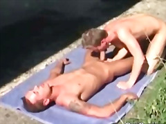 gay, ass-licking, anal, outdoors