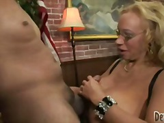 big-tits, blonde, mature, blowjob,