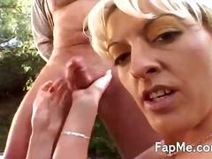 masturbation, handjob, blonde, threesome, handjobs
