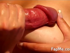 Cute chick with nice ass blowing a cock