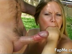 handjob, outdoors, guy, handjobs, masturbation, outdoor, cumshot, blonde