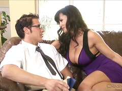 lisa ann,  blowjob, couch, german