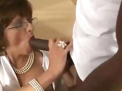 Mature stocking fetish slut black coc...
