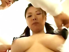 Big tit asian slut stripped and groped