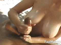 Sexy female stroking a... video