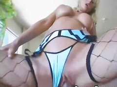tits, fishnets, dick, milf, blonde, hardcore